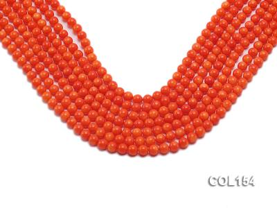 Wholesale 6mm Round Orange Coral Beads Loose String COL154 Image 1