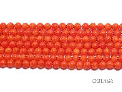 Wholesale 6mm Round Orange Coral Beads Loose String COL154 Image 2