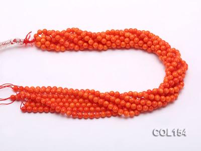 Wholesale 6mm Round Orange Coral Beads Loose String COL154 Image 3