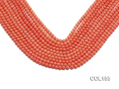 Wholesale 5mm Round Pink Coral Beads Loose String COL155 Image 1