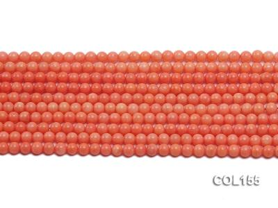 Wholesale 5mm Round Pink Coral Beads Loose String COL155 Image 2