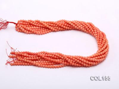 Wholesale 5mm Round Pink Coral Beads Loose String COL155 Image 3