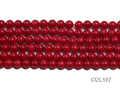 Wholesale 8-8.5mm Round Red Coral Beads Loose String COL157 Image 2