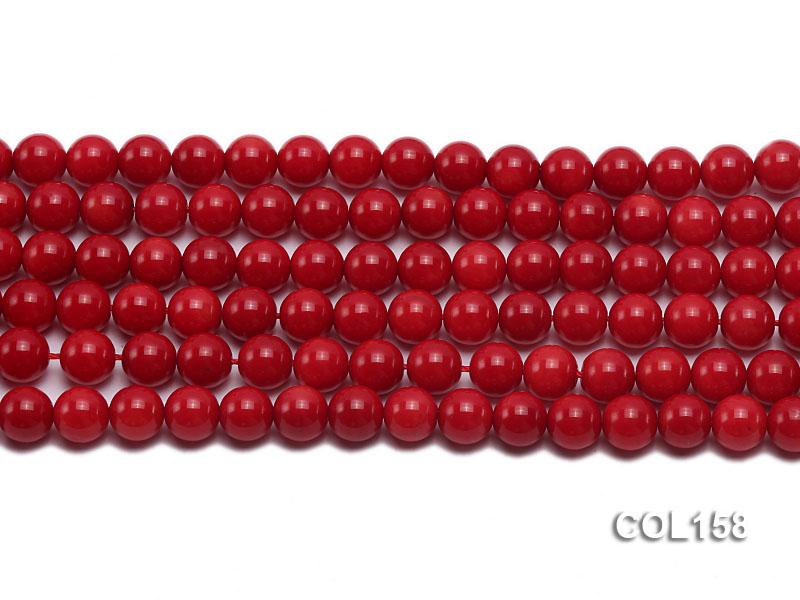 Wholesale 8.5-9mm Round Red Coral Beads Loose String big Image 2