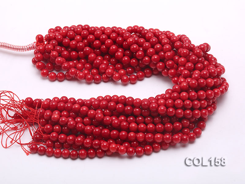 Wholesale 8.5-9mm Round Red Coral Beads Loose String big Image 3