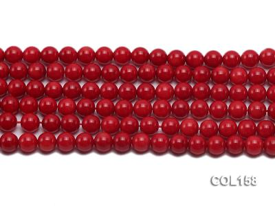 Wholesale 8.5-9mm Round Red Coral Beads Loose String COL158 Image 2