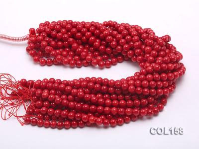Wholesale 8.5-9mm Round Red Coral Beads Loose String COL158 Image 3
