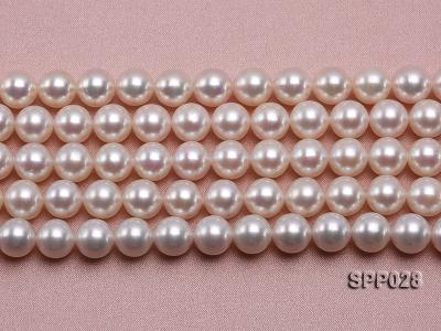 8-8.5mm Gorgeous Round Pink Seawater Pearl String SPP028 Image 2