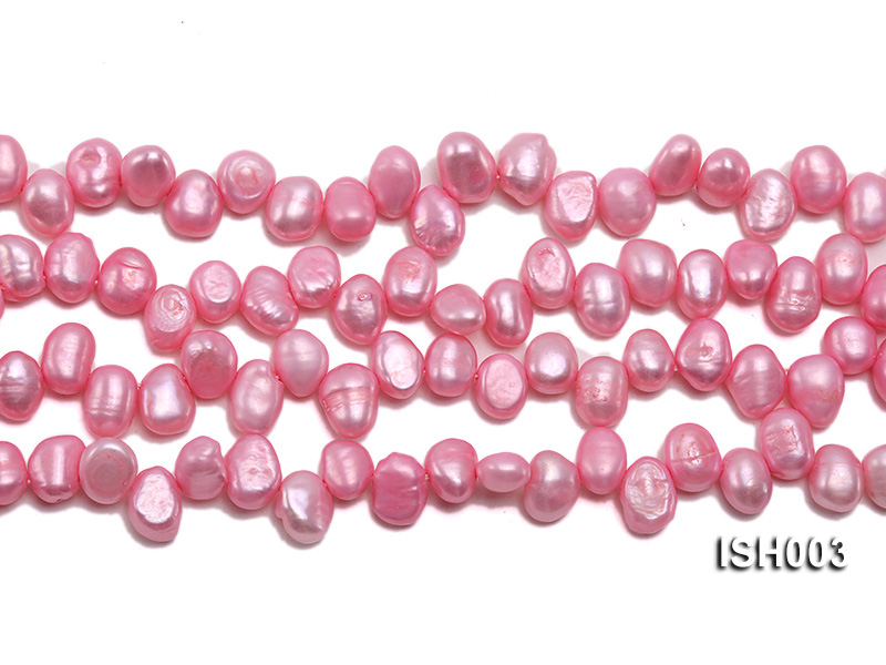 Wholesale 7x9mm  Side-drilled Cultured Freshwater Pearl String big Image 2