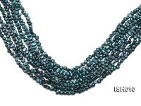 Wholesale 5-6mm Peacock Blue Rice-shaped Freshwater Pearl String ISH010