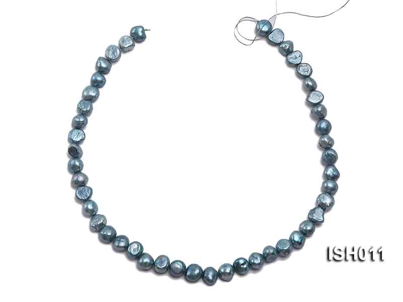 Wholesale 7X9mm Grey Blue Flat  Freshwater Pearl String big Image 3