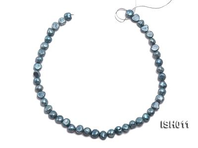 Wholesale 7X9mm Grey Blue Flat  Freshwater Pearl String ISH011 Image 3
