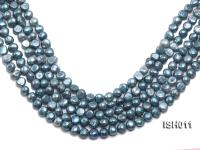 Wholesale 7X9mm Grey Blue Flat  Freshwater Pearl String ISH011