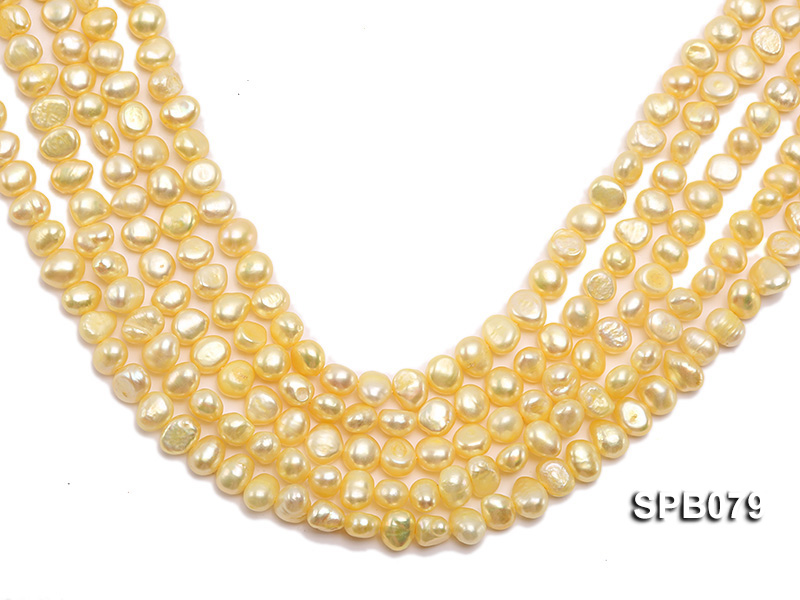 Wholesale 7-8mm  Flat  Freshwater Pearl String big Image 1