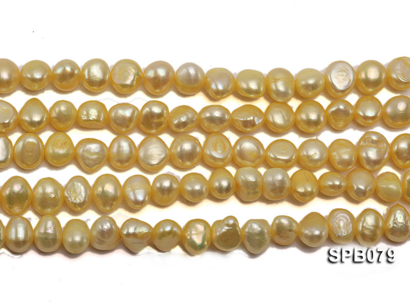 Wholesale 7-8mm  Flat  Freshwater Pearl String big Image 2