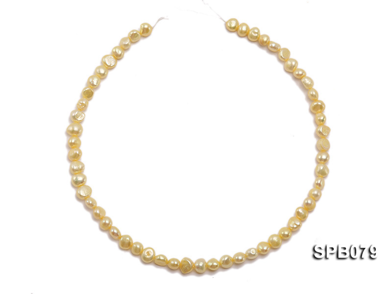 Wholesale 7-8mm  Flat  Freshwater Pearl String big Image 3