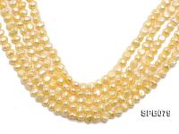 Wholesale 7-8mm  Flat  Freshwater Pearl String SBP079