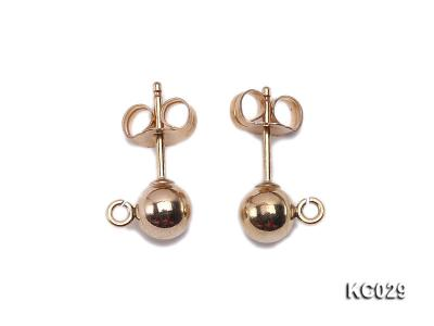 5mm 14k Yellow Gold Earring Post  KC029 Image 1