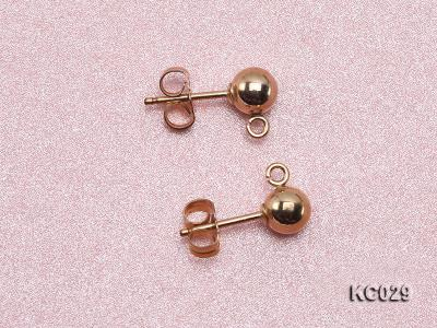 5mm 14k Yellow Gold Earring Post  KC029 Image 2