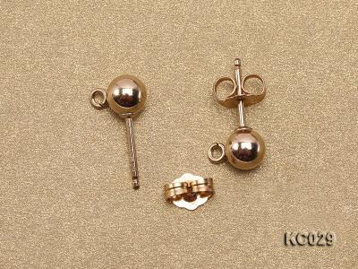 5mm 14k Yellow Gold Earring Post  KC029 Image 3