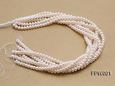 Wholesale 6.5x8.5mm Classic White Flat Freshwater Pearl String FPW001 Image 4