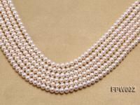 Wholesale 6.5x7mm White Flat Cultured Freshwater Pearl String FPW002