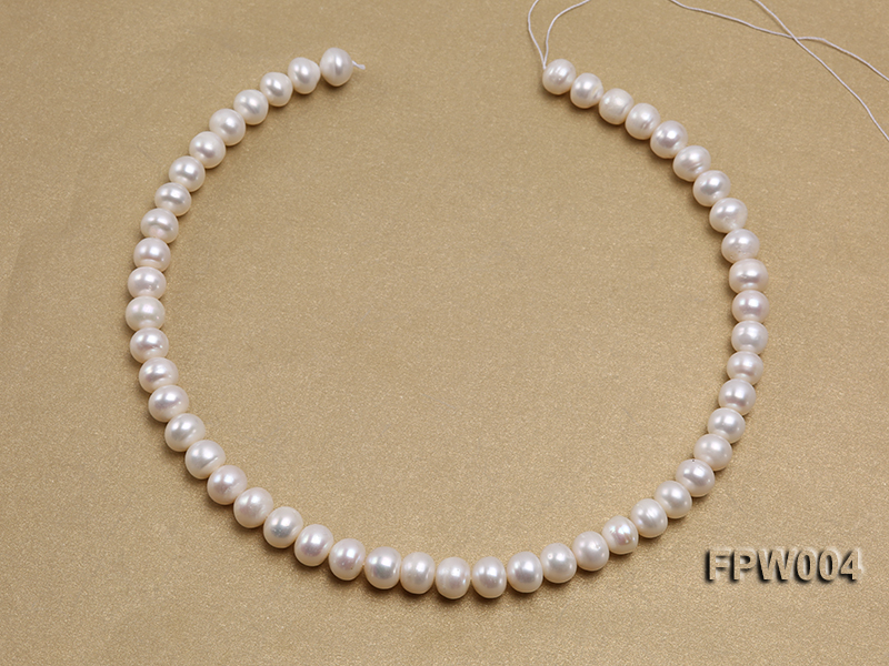 Wholesale 9x10mm Flat Cultured Freshwater Pearl String big Image 3