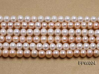 Wholesale 9x10mm Flat Cultured Freshwater Pearl String FPW004 Image 2