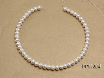 Wholesale 9x10mm Flat Cultured Freshwater Pearl String FPW004 Image 3