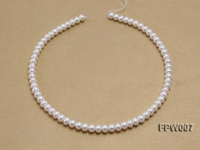 Wholesale 6x8mm Classic White Flat Cultured Freshwater Pearl String FPW007 Image 3