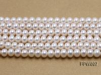 Wholesale 6x8mm Classic White Flat Cultured Freshwater Pearl String FPW007