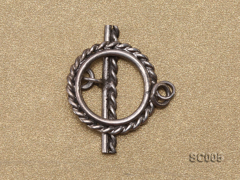 Single-strand Sterling Silver Toggle Clasp big Image 2