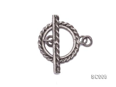 Single-strand Sterling Silver Toggle Clasp SC005 Image 1
