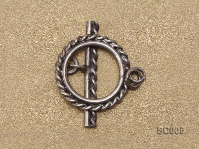 Single-strand Sterling Silver Toggle Clasp SC005 Image 2