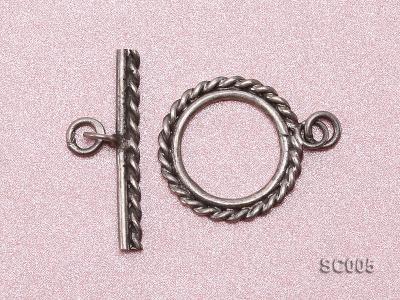 Single-strand Sterling Silver Toggle Clasp SC005 Image 3