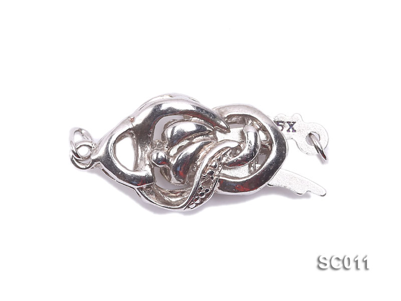 9*15mm Single-strand Sterling Silver Clasp big Image 1