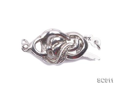 9*15mm Single-strand Sterling Silver Clasp SC011 Image 1