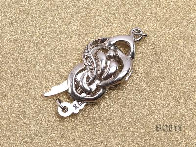 9*15mm Single-strand Sterling Silver Clasp SC011 Image 2