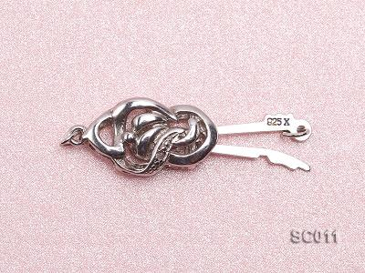 9*15mm Single-strand Sterling Silver Clasp SC011 Image 3