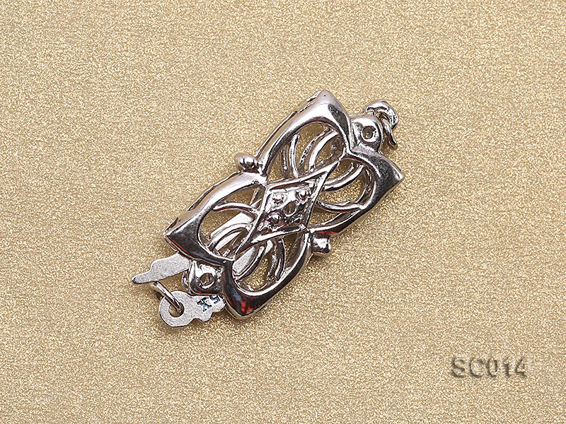 9*15mm Single-strand Sterling Silver Clasp big Image 2