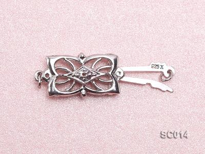 9*15mm Single-strand Sterling Silver Clasp SC014 Image 3