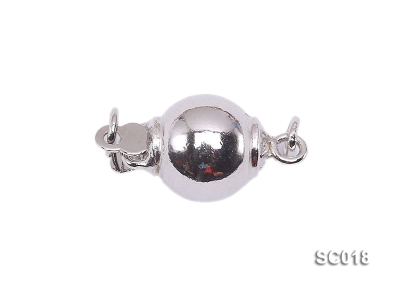 8mm Single-strand Sterling Silver Ball Clasp big Image 1
