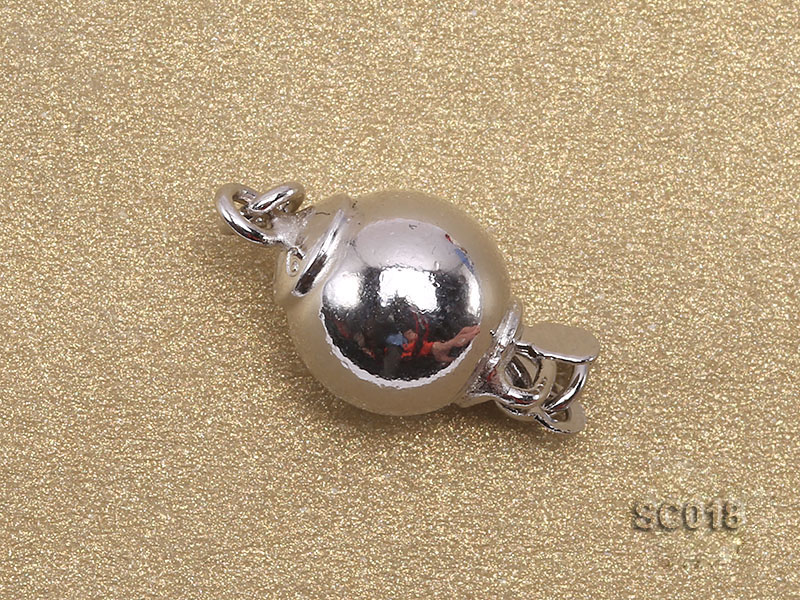 8mm Single-strand Sterling Silver Ball Clasp big Image 2