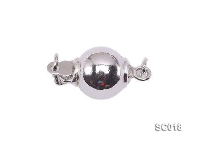 8mm Single-strand Sterling Silver Ball Clasp SC018 Image 1