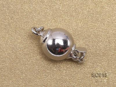 8mm Single-strand Sterling Silver Ball Clasp SC018 Image 2