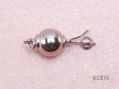 8mm Single-strand Sterling Silver Ball Clasp SC018 Image 3