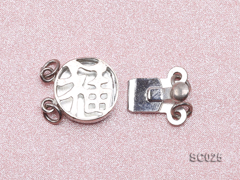 10mm Double-strand Sterling Silver Clasp big Image 3