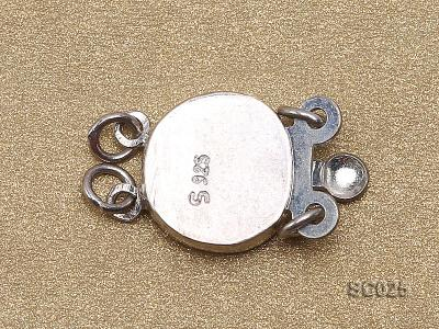 10mm Double-strand Sterling Silver Clasp SC025 Image 2
