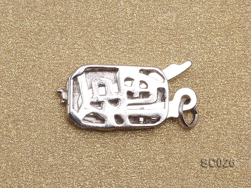 7*11mm Single-strand Sterling Silver Clasp big Image 2