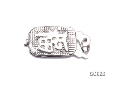 7*11mm Single-strand Sterling Silver Clasp SC026 Image 1
